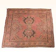 Antique Tribal Oushak Rug ( Reduce In Size) Size: 5.7 x 6.0