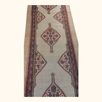 Antique Sarab Rug Size: 3.7 x 19.4