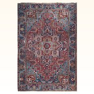 "Persian Rug Large Size Heriz 8'2""X11'5"" feet"
