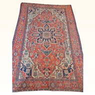 Antique Persian Serapi Rug Size: 9.9 x 14.7