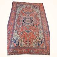 Antique Persian Serapi Rug Size: 9.9 x 14.7