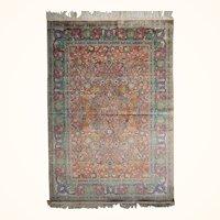 Antique Persian Qum Silk Rug Size: 4.7 x 6.0