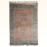 Antique Persian Qum Silk Rug Size: 4.7 x 6.0