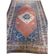 Antique Persian Bakhshayesh Rug Size: 11.9 x 17.0