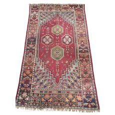 Antique Moroccan Rug Size: 5.0 x 8.2