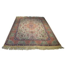 Antique Persian Tabriz Rug Size: 6.2 x 8.8