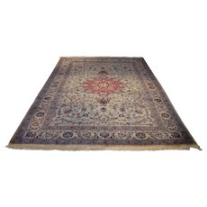 Antique Persian Tabriz Rug Size: 6.8 x 10.1