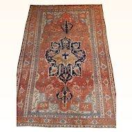 Antique Persian Serapi Rug Size: 9.1 x 13.6