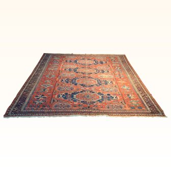 Antique Sumak Rug Size: 7.10 x 9.10