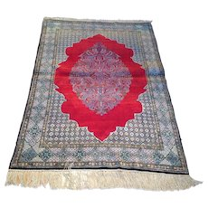 Antique Persian Qum Silk Rug Size: 3.5 x 5.2