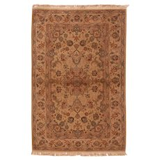 Extremely Fine Vintage Tabriz Wool & Silk Circa 1970, SIZE: 3'9'' x 5'9''