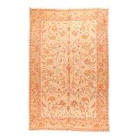 Antique Peach Turkish Oushak Area Rug Wool Circa 1890, SIZE: 9'5'' x 15'9''