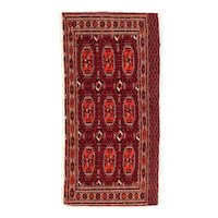 Excellent Russian Area Rug Wool Circa 1890, SIZE: 2'3'' x 4'7''