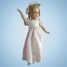Composition Mystery Debuteen Type  20 Inch Teen Doll, Unmarked, in Pink Gown