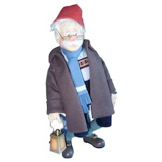 Geppetto Searches For Pinocchio, R.John Wright Felt Doll, 17 Inches - Red Tag Sale Item