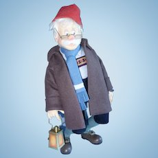 Geppetto Searches For Pinocchio, R.John Wright Felt Doll, 17 Inches