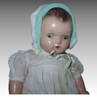 Princess Beatrix Baby Doll, Flirty Composition, Ideal 17 Inch 1930s