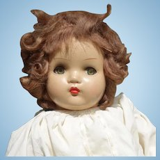 Horsman Composition Baby Doll, Flirty Eyes, Mohair Wig, 18 Inch