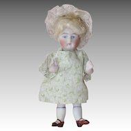 Kestner All Bisque Painted Eye 130 Doll, 4.5 Inch