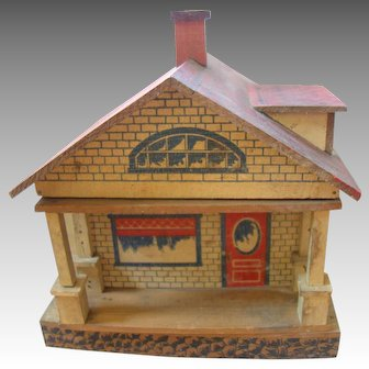 Converse Wooden Dollhouse Bungalow, Swing-out Front