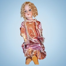 Pink Velvet Armand Marseille 390, 24 Inch Bisque on Jointed Body