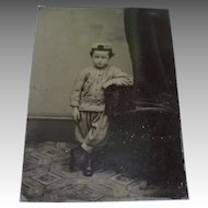 Tintype Photograph, Little Boy in Zouave Uniform, Civil War