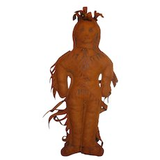 Native American New Hampshire Leather Souvenir Doll