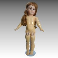 Handwerck 99 Simon & Halbig Bisque Doll, 19 Inch, in Green Dress