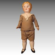 All Bisque Doll Boy, Molded Curls Dollhouse