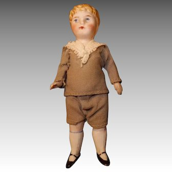 All Bisque Doll Boy, Molded Curls Dollhouse