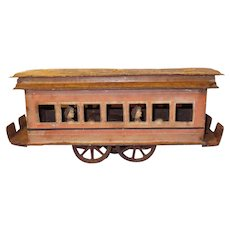 Clark & Boyer Tin Trolley, Pat 1897 Toy