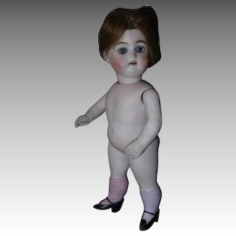 All Bisque  8 In Swivel-Neck Doll with Pink Stockings, # 40-10