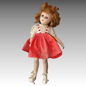 Alexander Wendy Ann Composition Doll, Swivel Waist, Tagged Dress