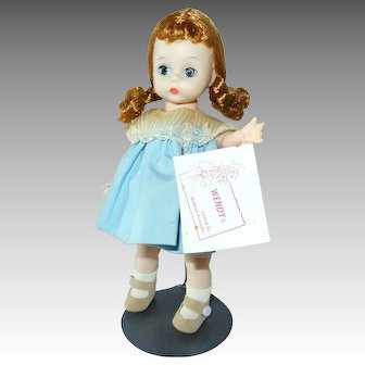 Wendy,  Alexander BKW Doll in Blue Outfit, Booklet--7.5 In