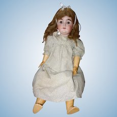 Cute Kestner 164 Bisque Head Antique Doll 28 Inches