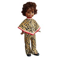 "Mod Doll, 1966 19"" Fashion in Cat Print Outfit, African American"