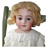 Simon & Halbig 1250 Bisque Head Doll, 27 Inch on Kid Body