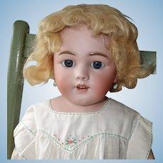 Simon & Halbig 1250 Bisque Head Doll, 27 Inch on Kid Body