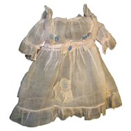 Organdy Doll Dress with Felt - Vintage Lenci Type