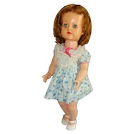 Saucy Walker Ideal 23 Inch Doll, Vinyl Head in Cotton Dress