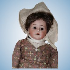 Pioneer Girl, 1899 German Bisque Head Armand Marseille Doll, Cloth Body