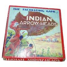 Indian Arrow-Head Board Game, Gabriel Sons 1940