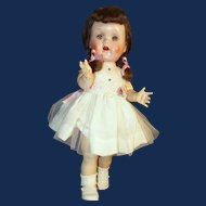 Ideal Saucy Walker, 16 Inch Hard Plastic in Party Dress
