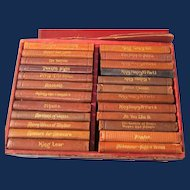 Shakespeare Miniature Book Set of 24, Knickerbocker in Red Box