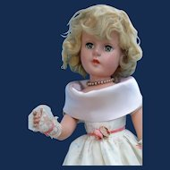 """Sweet Sue, 21"""" Early Painted Blonde Doll in Gown"""