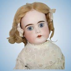 """Kestner """"J"""" Mark Bisque Shoulder Head Doll, 20 Inches in Antique Clothes"""