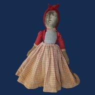 Topsy Turvy Cloth Doll, Bruckner Photograph Face