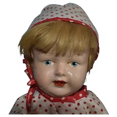 Baby Doll, 1917 Era Composition in Polka Dots