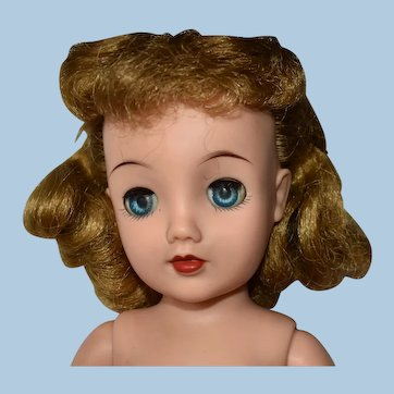 "Miss Revlon Doll 18"", Dark Blonde in Vintage Green Dress"