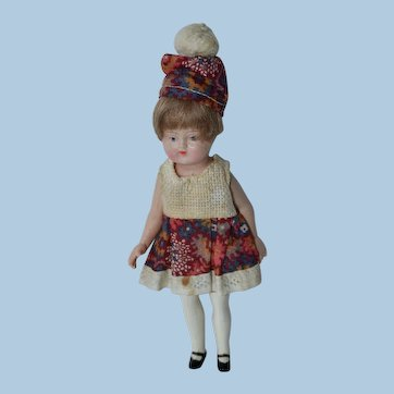 Dollhouse Doll, German Celluloid 1920s 5 Inch